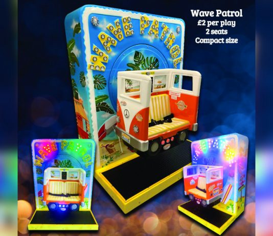 SB Machines Wave Patrol Childrens Ride
